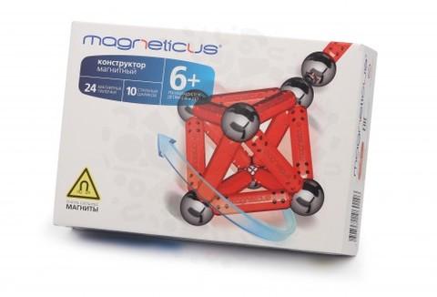 Конструктор Magneticus 34 элемента (красный)