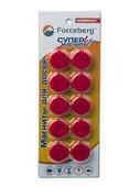 Магнит для магнитной доски FORCEBERG 20 мм, красный, 10шт.