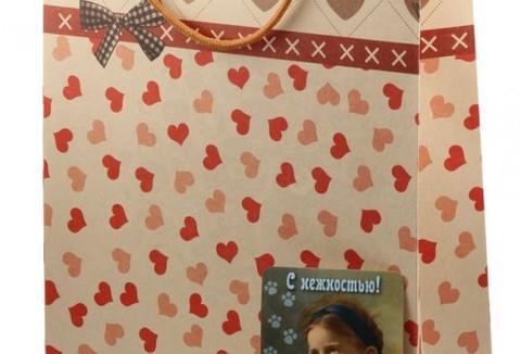 Подарочный пакет с открыткой