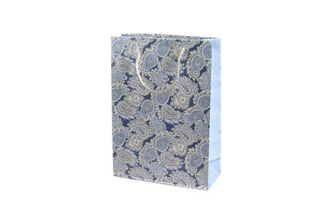 Подарочный пакет с орнаментом 22х31х9 см