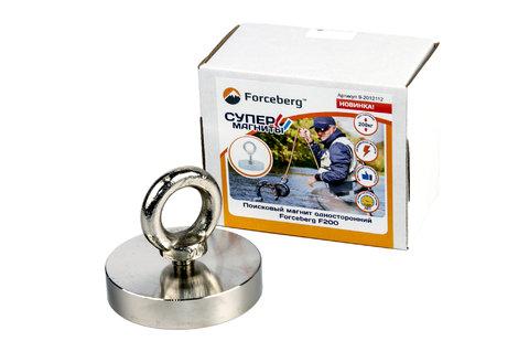 Поисковый магнит односторонний Forceberg F200, сила сц. 230 кг