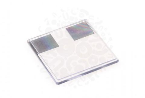Прямоугольный акриловый магнит 100х100мм (Прозрачный)