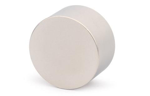Неодимовый магнит диск Магнит Великан 45х30 мм, N38