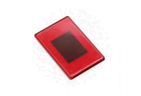 Заготовка акрилового магнита прямоугольная (красная) 52х77 мм.