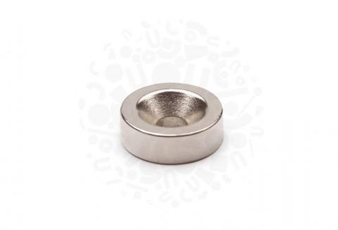 Неодимовый магнит диск с зенковкой 15 x 4,5/10 х 5