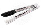 Набор  меловых маркеров к доскам Belmuro Hama   черный/белый