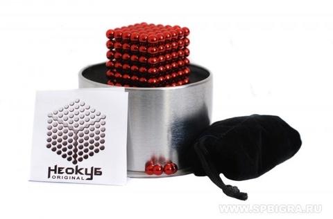 Forceberg Cube - куб из магнитных шариков 5 мм, красный, 216 элементов