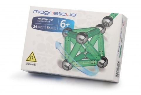 Конструктор Magneticus 34 элемента (зеленый)