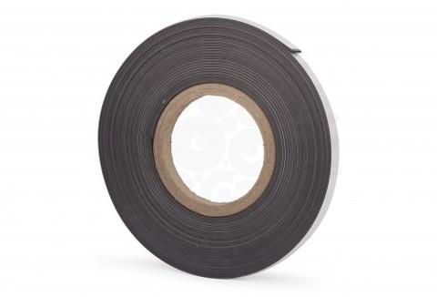 Магнитная лента 12.7 мм, рулон 10м c клеевым слоем (К)