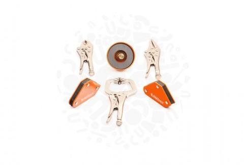 Набор инструментов с магнитными держателями для сварки