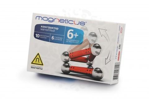 Конструктор Magneticus 16 элементов (красный)