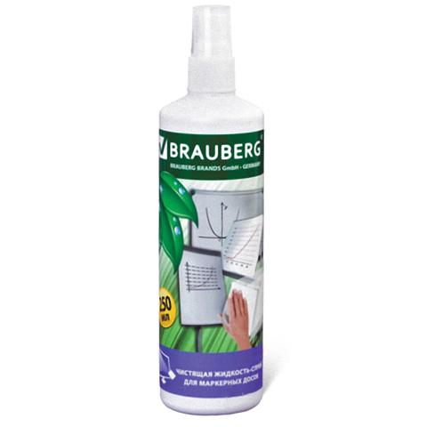 Чистящая жидкость-спрей BRAUBERG для маркерных досок 250 мл
