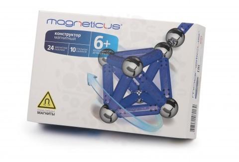 Конструктор Magneticus 34 элемента (синий)