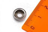 Неодимовый магнит диск с зенковкой  10 х 3,5/7 х 3