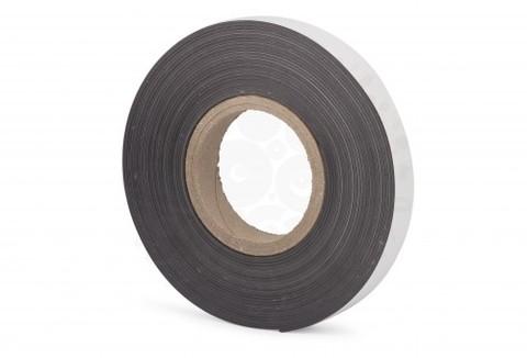 Магнитная лента 25.4 мм, рулон 10м с клеевым слоем (К)