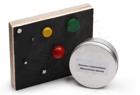 Опыты с магнитами: Магнитная краска