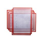 Магнитная слайд-рамка А3 матовая, красная (5 шт)