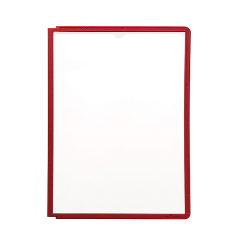 Магнитная слайд-рамка А4 матовая, красная (5 шт)