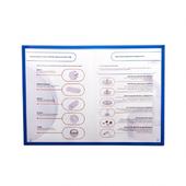 Магнитная слайд-рамка А4 матовая, синяя (5 шт)