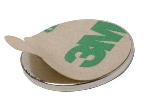 Неодимовый магнит диск 10х2 мм с клеевым слоем
