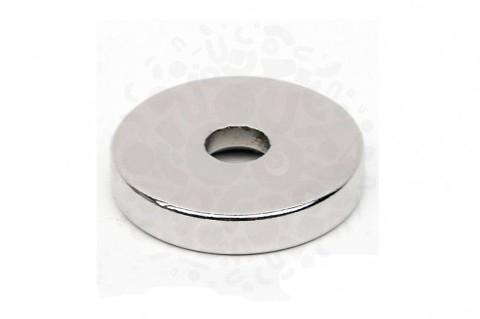 Неодимовый магнит кольцо 25х5х10 мм, N40UH