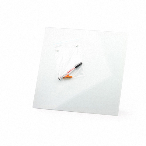 Стеклянная магнитно-маркерная доска Белая Askell 450x450