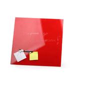 Стеклянная магнитно-маркерная доска Красная Askell 450x450
