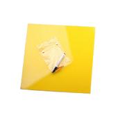 Стеклянная магнитно-маркерная доска Желтая Askell 450x450